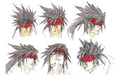 Sol Badguy Faces from Guilty Gear 2: Overture