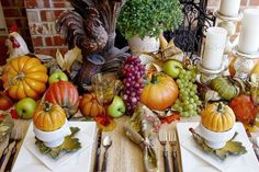 South Shore Decorating Blog: 35 Favorite Amazingly Creative Fall / Autumn Tablescapes