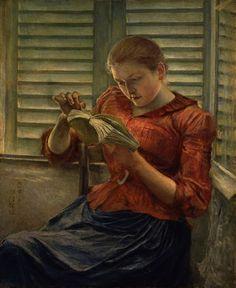 Artist Kuroda Seiki Title 読書 (Woman Reading) Date ca. People Reading, Girl Reading Book, Reading Art, Woman Reading, Love Reading, Reading Books, Kagoshima, I Love Books, Good Books