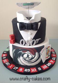 James bond theme cake cake decoration ideas в 2019 г. james bond ca James Bond Cake, James Bond Party, James Bond Theme, Casino Party Games, Casino Theme Parties, Themed Parties, Casino Night Food, Casino Decorations, Casino Cakes