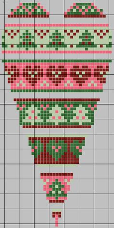 Cross-stitch Christmas Heart, part 1... no color chart available, just use pattern chart as your color guide.. or choose your own colors... gazette94: free pattern