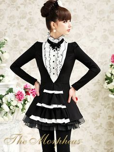 Morpheus Boutique  - Black White Vintage Ruffle High Collar Shoulder Layer Shirt Top, $59.99 (http://www.morpheusboutique.com/products/black-white-vintage-ruffle-high-collar-shoulder-layer-shirt-top.html)