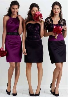possible bridesmaids dresses, the one in the middle is stellar