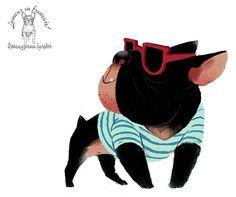Французский бульдог - улыбчивый поросенок :) French Bulldog - smiling pig :)