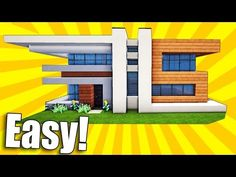 Minecraft: Small Easy Modern House Tutorial - How to Build a House - YouTube