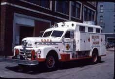 .1957 Seagrave rescue squad. One of a kind built for Grand Rapids, Mi