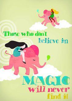 Pink Elephants limited edition art print by sevenstar on Etsy, $21.00