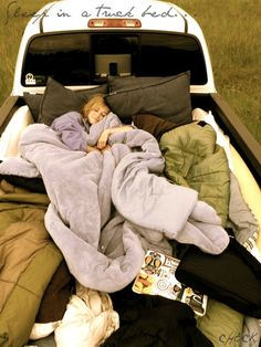 Date night- Sleep in a truck bed, bring wine and just enjoy the stars together.