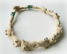 Crochet necklace by Lidia Puica