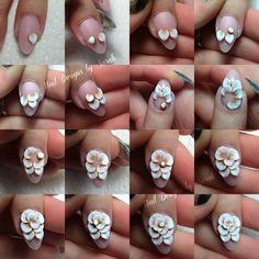 how to do 3D acrylic rose tutorial