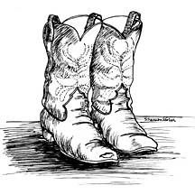 """Cowboy boots from """"Curly, Jake 'n Me"""" by Robert Connerly"""
