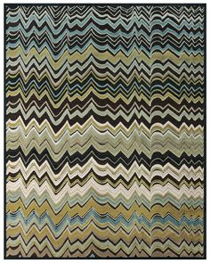 Our Saphir Cabo Collection #green #yellow #aqua #blue #brown #pattern #rug #feizyrugs #interiordesign #color #chocolate