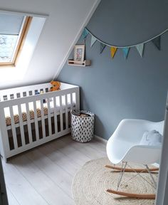 Have a new baby on the way but still stuck in a small home? Learn how to design a baby room, stay organized, and maximize space with these small nursery ideas! Baby Bedroom, Baby Boy Rooms, Baby Boy Nurseries, Nursery Room, Kids Bedroom, Nursery Ideas, Small Baby Cribs, Baby Storage Baskets, Small Nurseries