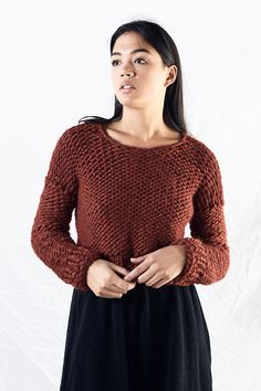 2aa2ff3daa767 by Morph Knitwear Hand Knitted Sweaters, Cropped Sweater, Design Museum,  Hand Knitting,