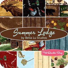 Summer Lodge Fat Quarter Bundle Bella Lu Studios for South Sea Imports - Fat Quarter Shop