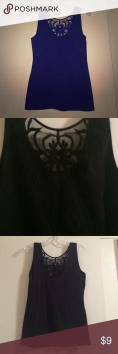 Cute Black going out top Cute H&M going out top! Worn a couple times but not stains or tears! Detailing in front is seen in picture 2!   Open to all offers and no trades! H&M Tops Tank Tops