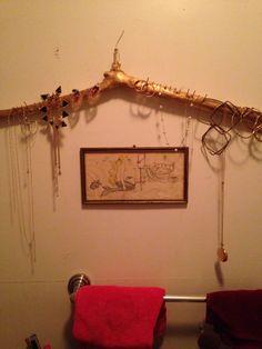 DIY jewelry rack