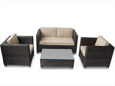 BuildDirect – Conversation Sets - Wicker Sofa Sets – Monte Carlo 4 Piece Conversation Set - Multi View