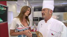 Ainhoa Sánchez, 'mujer florero' en el programa de cocina de Karlos Arguiñano.