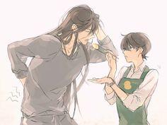 "Kane-san, say ""ahhh""(´ω`♡%) Chica Anime Manga, Anime Kawaii, Anime Art, Handsome Anime Guys, Hot Anime Guys, Touken Ranbu Kanesada, Mutsunokami Yoshiyuki, Sanrio Danshi, Image Manga"