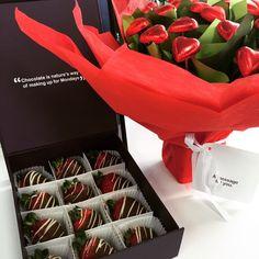 #valentinesday #2015 #adelaide #australia #edibleblooms #chocolate #roses #strawberries