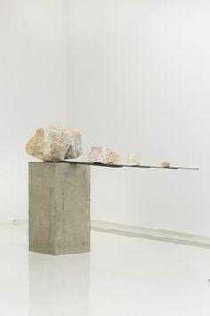 Liao Fei | 2015 | Installation | marble, steel plates, concrete base, robot arm