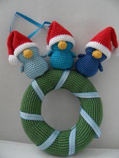 Fiep Miep en piep op een kerstkrans - made by Boukje november 2012