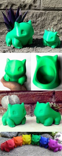Bulbasaur Pokemon PlanterHelp Bulbasaur evolve with the flower of your choice in these fantastic 3D-printed Pokemon planters. Bulbasaur will create the ideal companion as he sits on your desktop or window sill, where you can water and watch his bulb flourish.Click here to check it out!Or here to find more awesome merchandise #bulbplanters