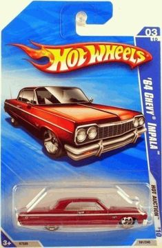 Hot Wheels 2010-161 RED '64 Chevy Impala #03/10 Hot Auction 1:64 Scale by Hot Wheels. $5.95