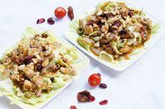 Salatka z kurczakiem, serem plesniowym i suszonymi pomidorami!
