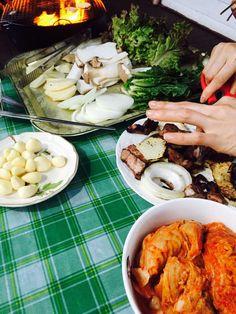 "BTS Tweet -- (selca) 150706 -- 나는지금 먹고있지후후 -- [TRANS] ""I'm eating right now…"