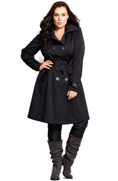 City Chic Corset Back Trench Coat (Plus Size) available at #Nordstrom