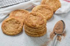 These soft snickerdoodle cookies are so delicious, and they have the best texture. They are so fast to put together too! I actually got it from an old recipe that my Great Grandma had clipped out of a newspaper. Grandma always knows best!