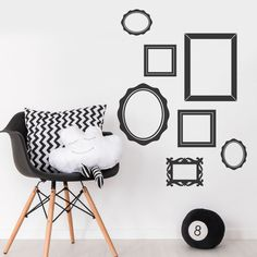 Picture Photo Frame Baby Nursery Girls Bedroom Wall Stickers Cool Decal Mural