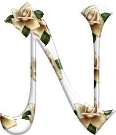 Alfabeto Florido PNG...N