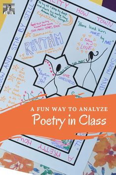 Poetry One-Pagers: This fun poetry one-pager assignment can fit well into any poetry unit. Get students thinking deeply about the text and representing their analysis creatively. Take the guesswork out of the process for your students and for you with thi Poetry Activities, Teaching Activities, Teaching Strategies, Teaching Ideas, Poetry Lesson Plans, Poetry Lessons, Poem Analysis, Teaching Poetry, Teaching Writing