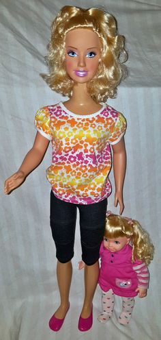 "My Size Barbie 38"" w/ Sister Kelly 15"" Doll (R16031403)"