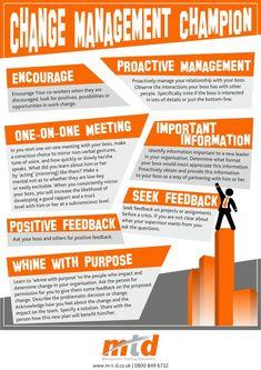 Great Infographic: Change Management Champion - Change!