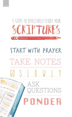 Five steps to effectively study your scriptures #LDS …