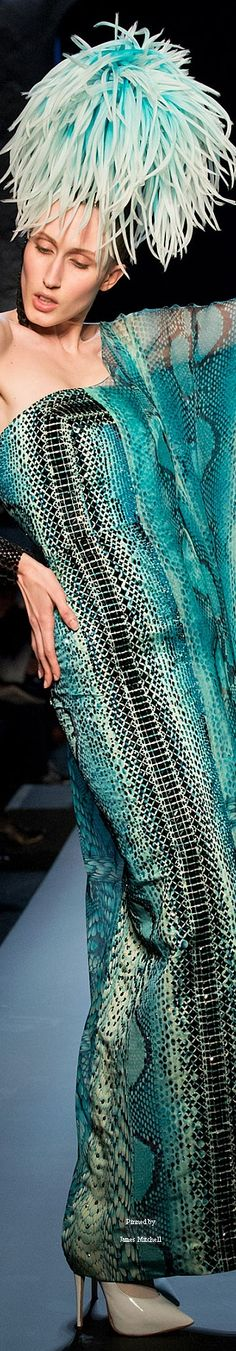 Jean Paul Gaultier Spring 2015 Couture Collection  ✿  i love this ✿