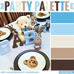 I loved this teddy bear baby shower the moment I saw it on Hostess with the Mostess. It's just beyond charming, with its subtle patterns, sophisticated styling, and of course, the aqua and brown color scheme. It's a color scheme that would work for all sorts ...