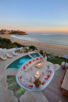 outdoor living - that would be a great beach house for the vacation! Beautiful Homes, Beautiful Places, Beautiful Beautiful, Amazing Places, Luxury Pools, Luxury Cars, Dream Pools, Cool Pools, Dream Vacations