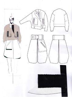 Fashion Sketchbook - fashion design drawings & fabrics; fashion illustration; fashion portfolio // Andrew Voss