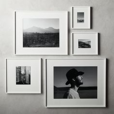 picture wall ideas Shop Gallery White Frames with White Mats. Exhibit your favorite photos and images gallery-style. White mat floats one photo within a sleek picture frame of bri 11x14 Picture Frame, Unique Picture Frames, Picture Frame Crafts, Photo Frame Ideas, White Picture Frames, Black And White Photo Wall, 16x20 Frame, Picture Frame Layout, Picture Frame Display