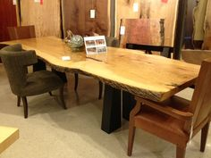A Solid Wood Table #shopGF | Houston TX | Gallery Furniture |
