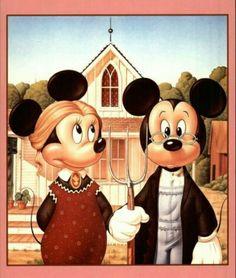 Mickey & Minnie Art