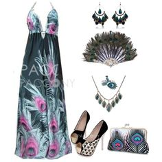"""""""Peacock Outfit"""" by pacconylois on Polyvore"""
