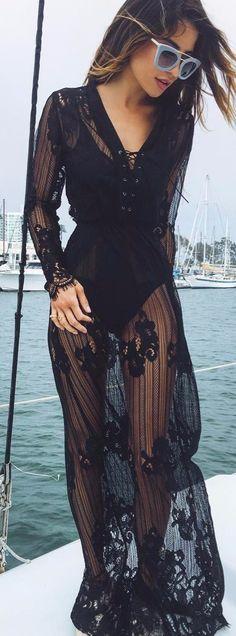 transparent maxi dress
