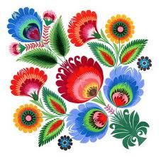 Polish Folk Art - I could totally just take a piece of this for a great tattoo!!