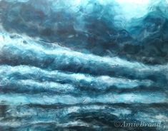 """""""Don't wait for me"""" . A remix of an earlier painting. Encaustic with a touch of soft pastels. Those sky's have a tight hold on me now. Soft Pastels, Wait For Me, My Arts, Waves, Sky, Touch, Amazing, Projects, Painting"""